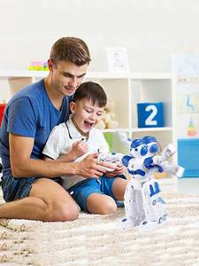 RC Robot Toys Programmable Remote-Control Intelligent Educational Kids Children Usb-Charging