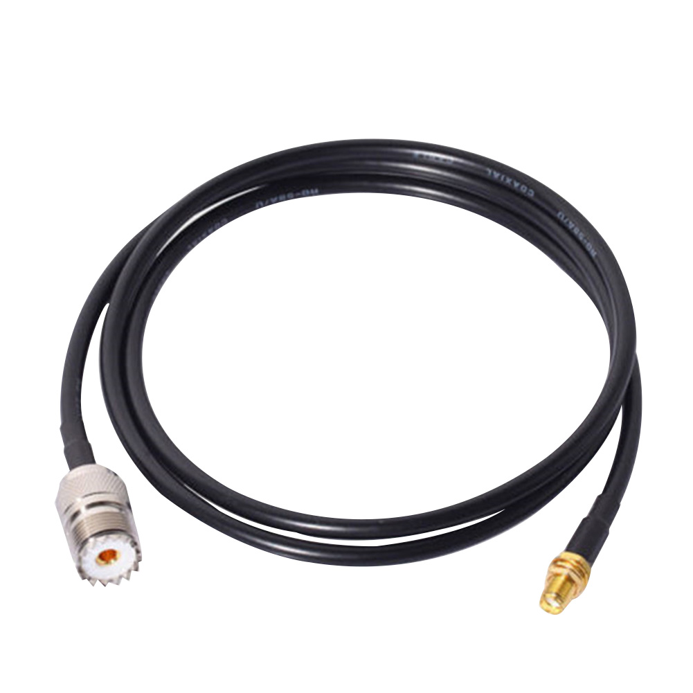1m Walkie Talkie Overheat Protection Anti Interference Extension Cable  To UHF SO239 Connector Threaded Radio Antenna Parts