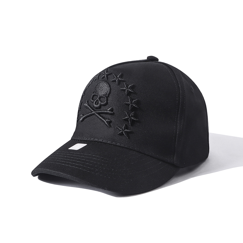 Starbags Pp Original German Logo Embroidered Skull Cool Multifunctional Couple Cap Adjustable Casual Baseball Cap Cotton Thicken