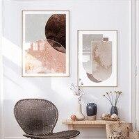 الحديث بوهو الفن البوهيمي نمط قماش اللوحة مجردة الرخام البيج الملصقات يطبع صور فنية للجدران لغرفة المعيشة ديكور المنزل
