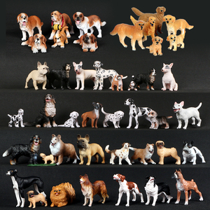 Simulation Plastic Retriever,Bull Terrier,Collie,Saint Bernard Dog Family Animals Model Figure Collectible Toys Dog For kids
