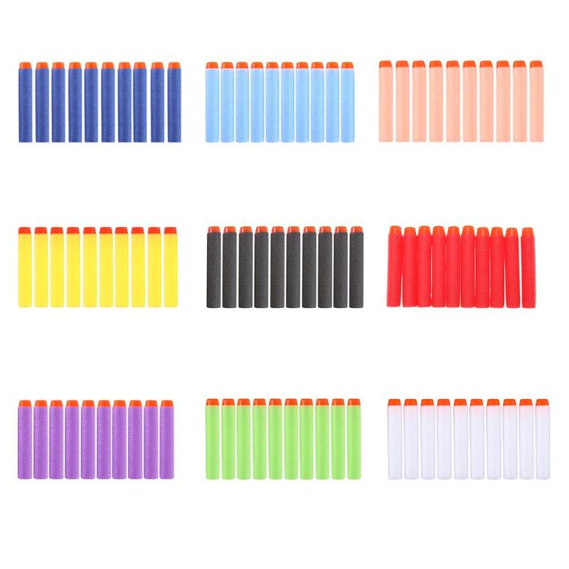 100pcs Foam For Nerf Bullets EVA Soft Hollow Hole Head 7.2cm Refill Bullet Darts For Nerf Toy Gun Accessories For Nerf Blasters