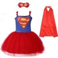 Disfraz de Carnaval de Superman para niñas, disfraz de superhéroe inspirado en tutú para bebés con máscara, disfraces de Navidad para Halloween