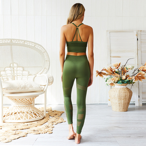 Image 5 - Womens Seamless Gym Clothing Yoga Set Fitness Workout Suit Outfits For Female Running Athletic Leggings Tight Sportswear New