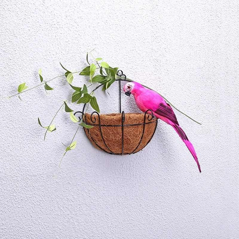 25 センチメートル手作りシミュレーションオウムクリエイティブ羽芝生置物装飾動物鳥ガーデン鳥小道具装飾ミニチュア