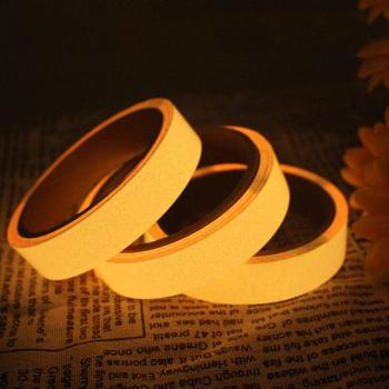 Reflective Glow Tape Self-adhesive Sticker Removable Luminous Tape Fluorescent Glowing Dark Striking Night Warning Tape Home image