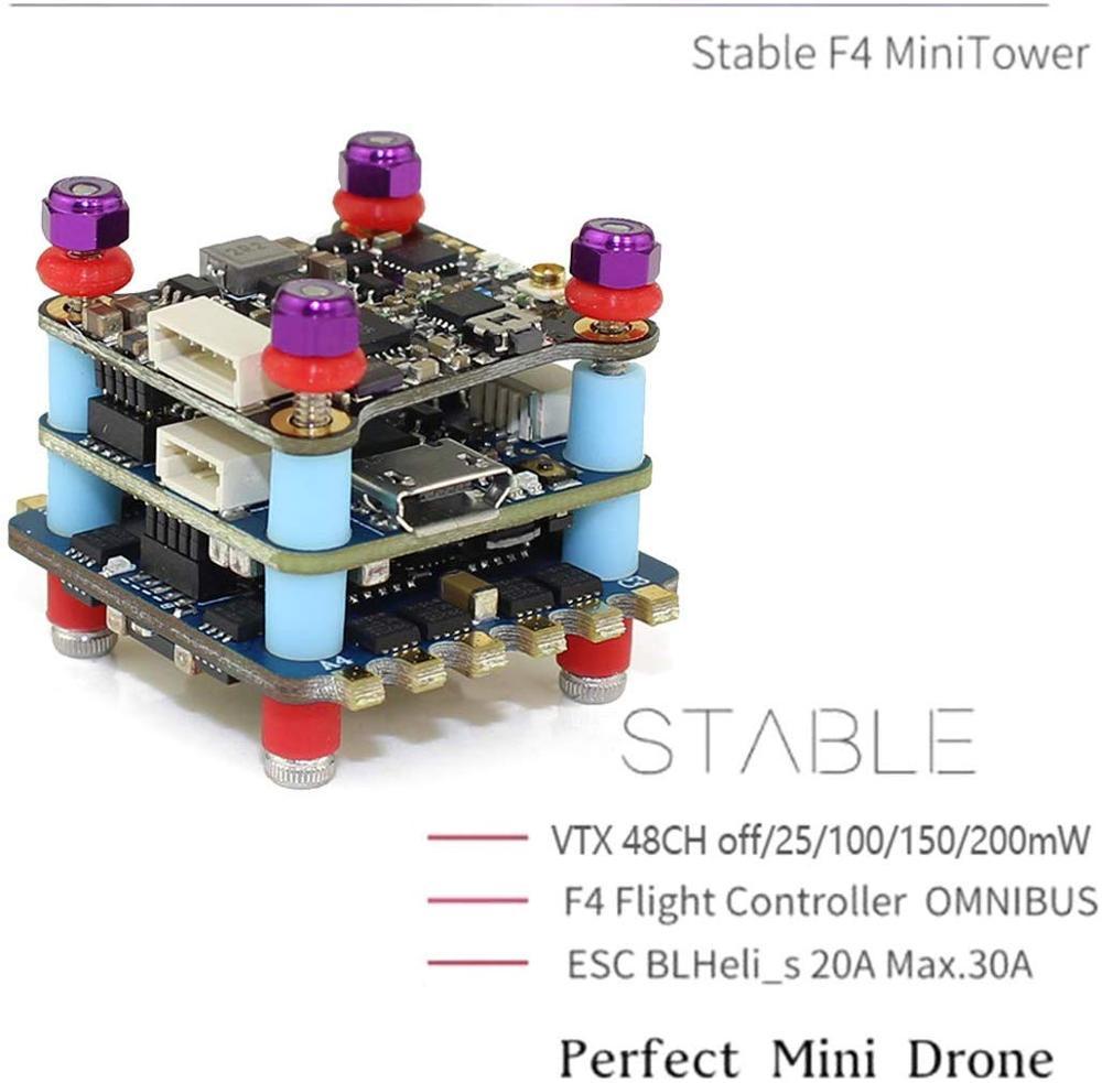 MINI Flying Tower F4 Flight Controller 20A 2-4S VTX Transmission 200mW Power Flight Control ESC Compatib IFlight Stack Duall