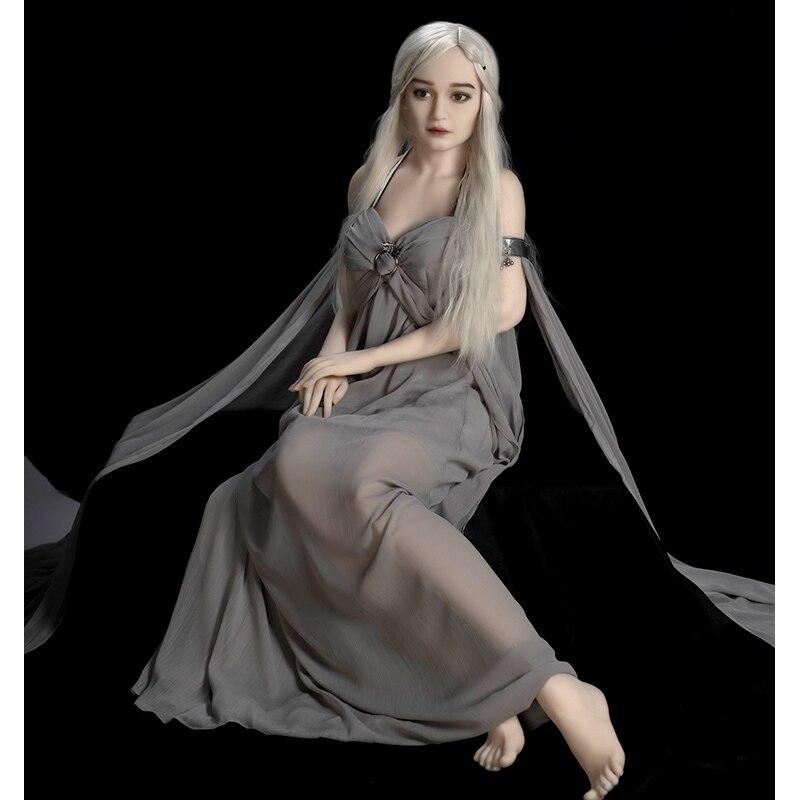 Hanidoll Vera Bambola di Silicone Bambole Del Sesso 160 centimetri Bianco Della Pelle di Amore Bambola Realistica Culo Della Vagina Seno Pieno di Dimensioni TPE Del Sesso bambola per Gli Uomini