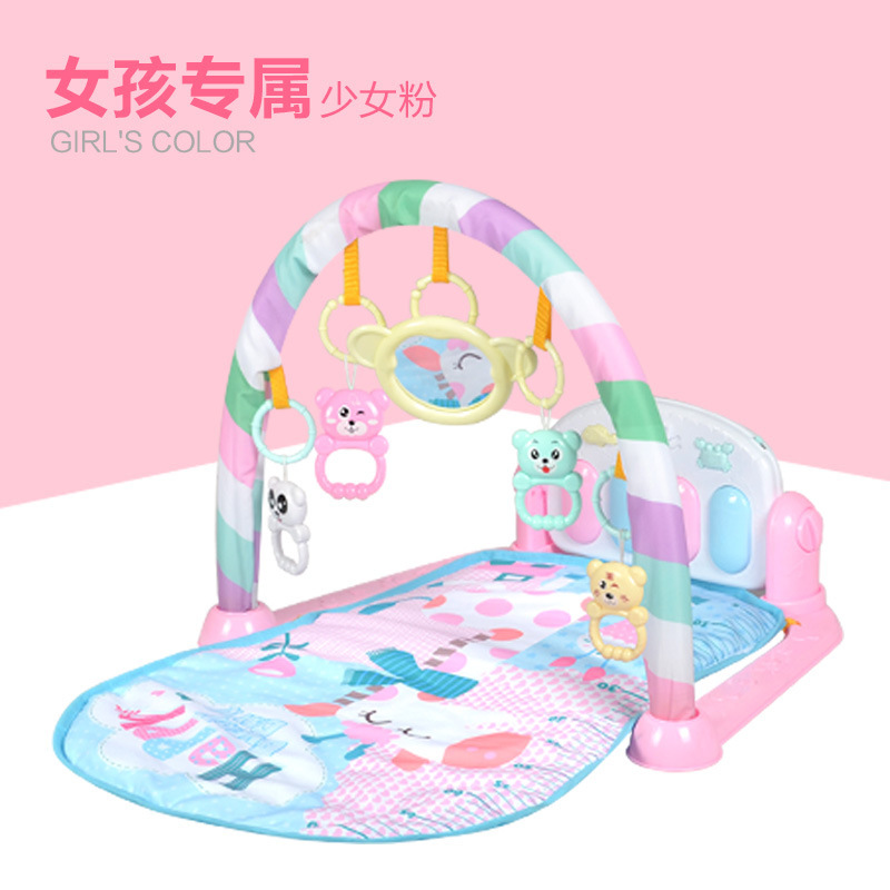 Infant Rug Toy 0-1-Year-Old Kick And Play Piano Gym Mat Newborns Baby Early Childhood Music