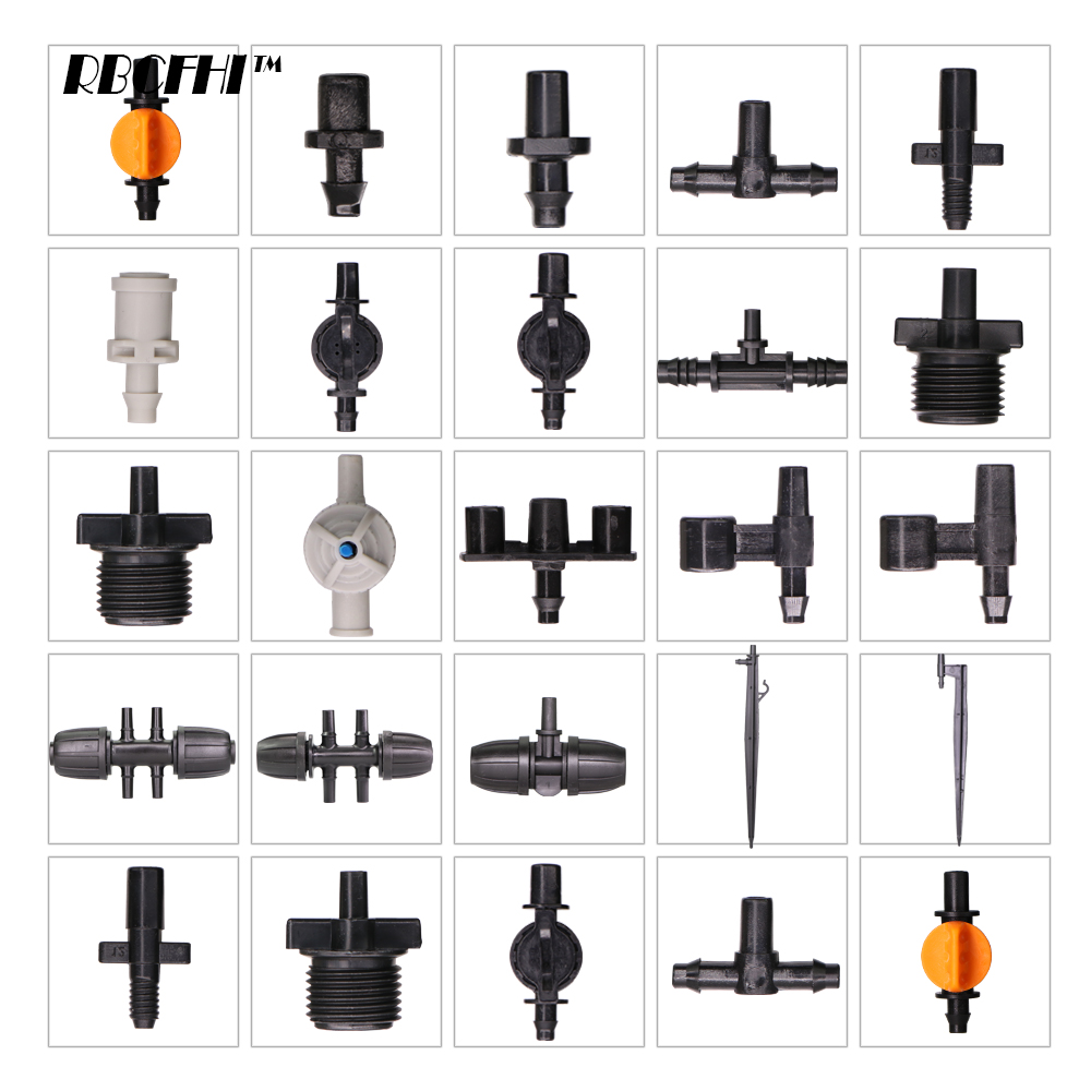 RBCFHI ID-6.0/7.5mm Connectors For Garden ID/OD-6.0/7.5mm Micro Nozzles Sprinklers Irrigation Watering Coupling Adapter Stakes
