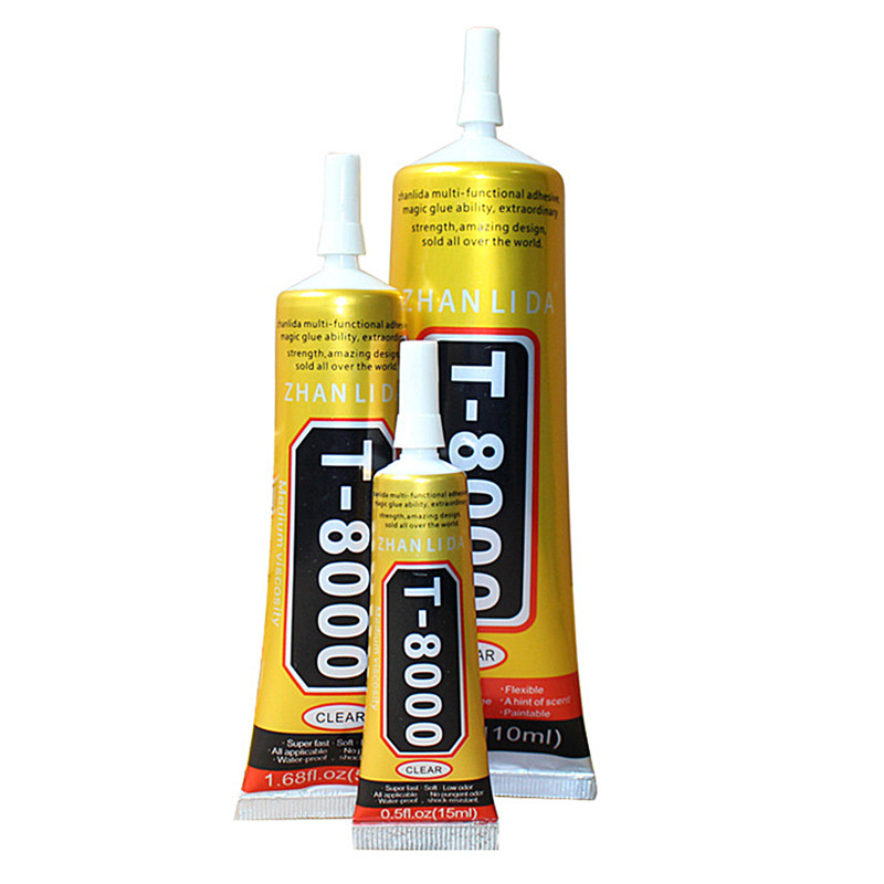 Glue T-8000 Clear Epoxy Resin Sealant Craft Industrial Glass Jewelry Glue 1 Pack