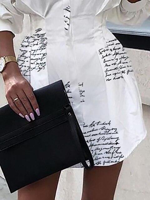 Фото платье рубашка с узкой талией и буквенным принтом платье сексуальное