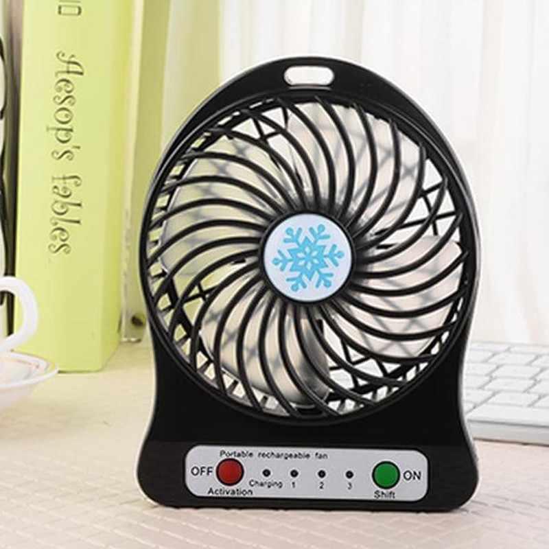 2019 ポータブル充電式 Led ライト夏ファンミニ USB 充電空気冷却器 3 モード速度調整ファン