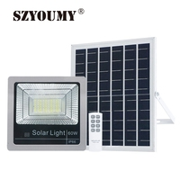 SZYOUMY1 PCS 40W 60W 80W 120W Outdoor Solar Rechargeable LED Indicator Flood Lights Solar Floodlight with Battery Display