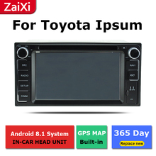 ZaiXi android car dvd gps multimedia player For Toyota Ipsum Picnic Sportsvan 2001~2009car dvd navigation radio video audio цена