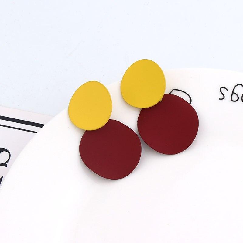 Earring For Women Girls Dangler Eardrop Summer Bohemian Fashion Cute Geometric Round Gift Party Colorful Jewelry 1