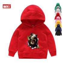 Kids Long Sleeves Dinosaur Hoodies Boys Cartoon Tyrannosaurus Rex Print Sweatshirts Winter 6T