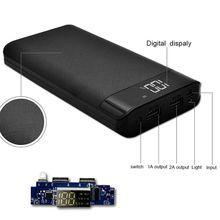 Универсальный 5 в 2 А 3 usb порта Внешний Аккумулятор Чехол Набор DIY 8X18650 зарядное устройство коробка DIY для samsung Xiaomi мобильный телефон