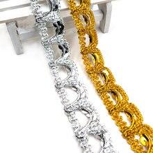 5 ярдов u образные золотые блестки 23 см кружево ткань кружевная