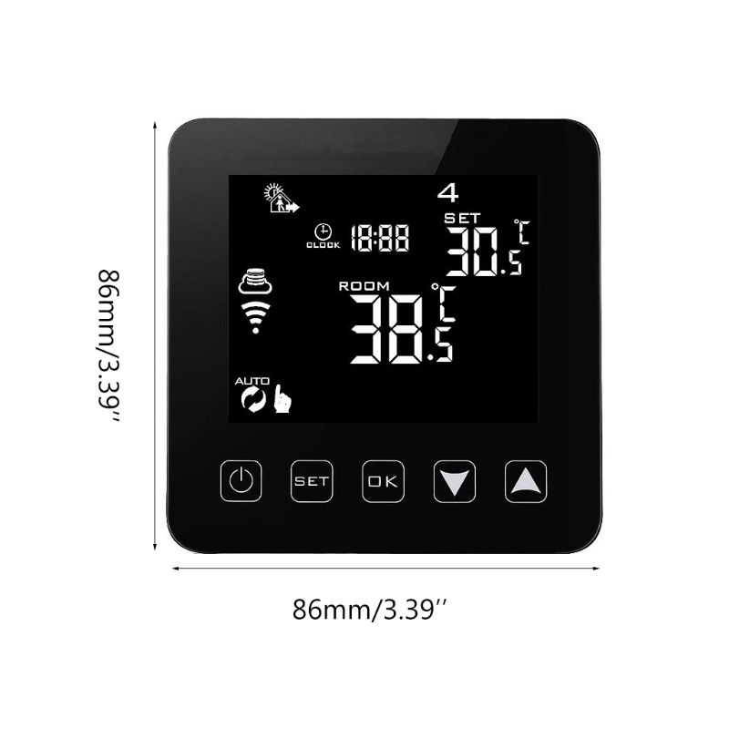 WiFi Programmable Thermostat Echo Alexa Voice Control Electric Floor Heating Room Temperature Control 16A 100-240V 94PC