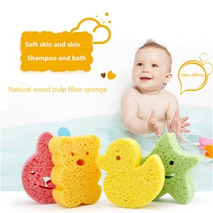 Baby Bath Brushes Baby Infant Shower Faucet Wash Child Sponge Rub Sponge Cotton Rubbing Sponges Bath Brushes Towel Accessories