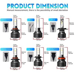Image 2 - BraveWay 12000LM 2nd CSP Led Lamp H4 H7 H1 H11 HB3 HB4 9005 9006 Led Headlight Car Led Bulb H4 Headlight for Cars Auto Led Light