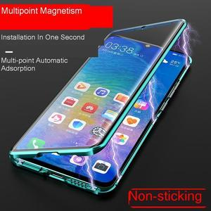 Image 4 - Magnetische Metalen Frame Case Op Huawei Honor 20 9X P30 P40 P20 Mate 30 20 Lite Nova 5T 7 pro Clear Hard Shockproof Back Cover