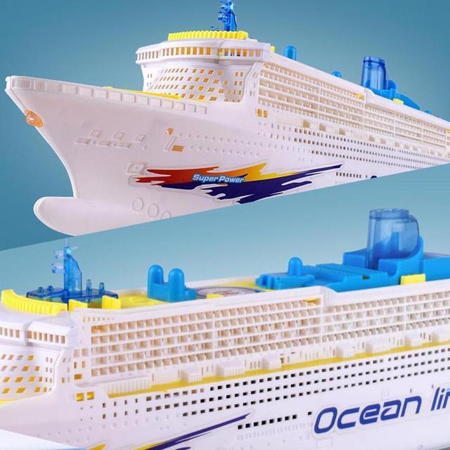 Simulation ship model children's light music cruise ship ship universal electric toy F7D0 6
