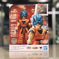 WSTXBD Bandai Dragon Ball Z DBZ SHF God Blue Goku Action Figure Figurals Brinquedos Model Dolls Toys