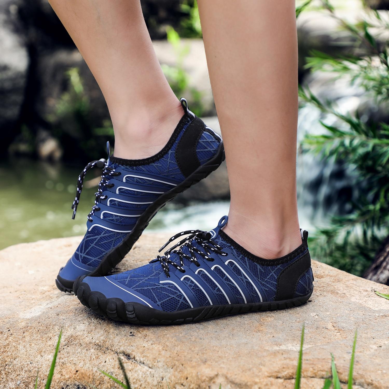 caminhada para o homem mulher cinco dedos sapatos trekking nadar