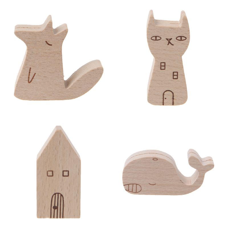 Cute Cartoon Animal Wooden Information Folder Photo Clip Note Memo Notes Display Board Clamps Message Stand Holder