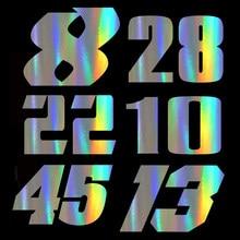 Hongmieh-autocollants Moto numéros 8, 28, 22, 10, 45, 13, étiquettes autocollantes en vinyle, pour yamaha, suzuki