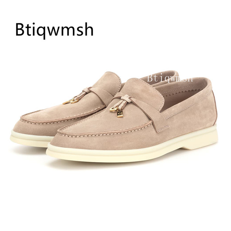 2019 British Style Loafer Shoes Woman Round Toe Metal Lock Real Leather Flat Shoes Ladies Comfortable Oxford Walk Casual Shoes