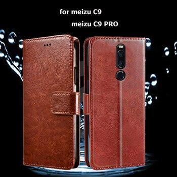 Перейти на Алиэкспресс и купить Откидная крышка для Meizu C9 чехол для телефона для Meizu C 9 PRO Coque Funda из искусственной кожи Бумажник кожаный чехол Capas