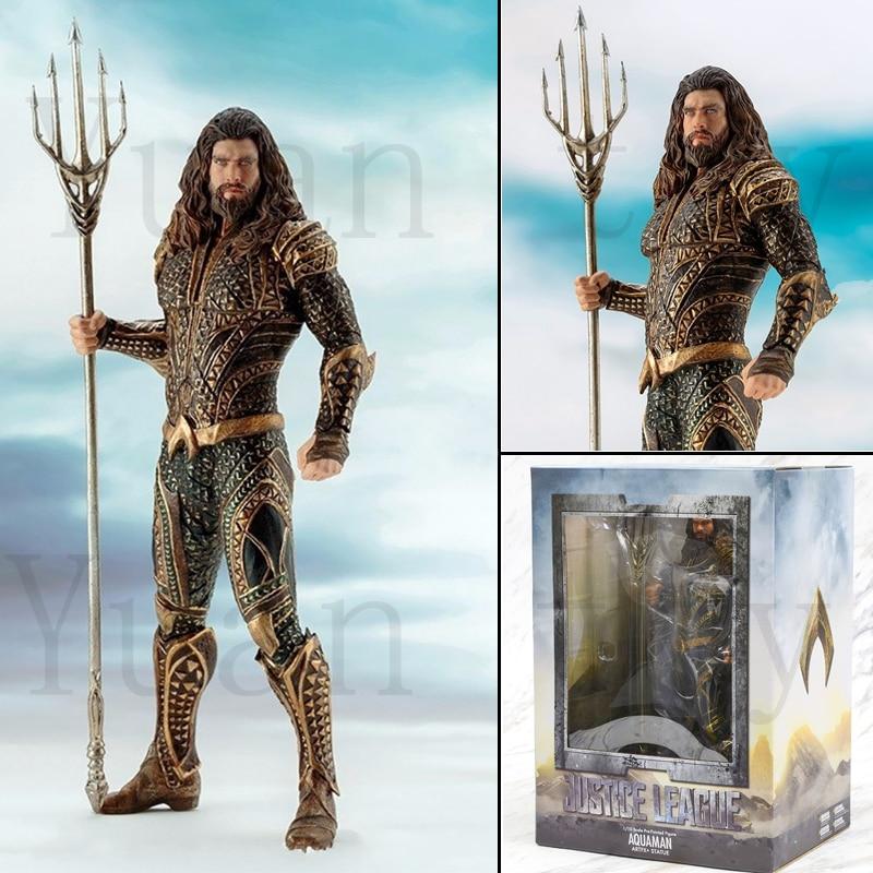 7 Inch DC Justice League Aquaman Patung Artfx Aksi Model Mainan Boneka Hadiah