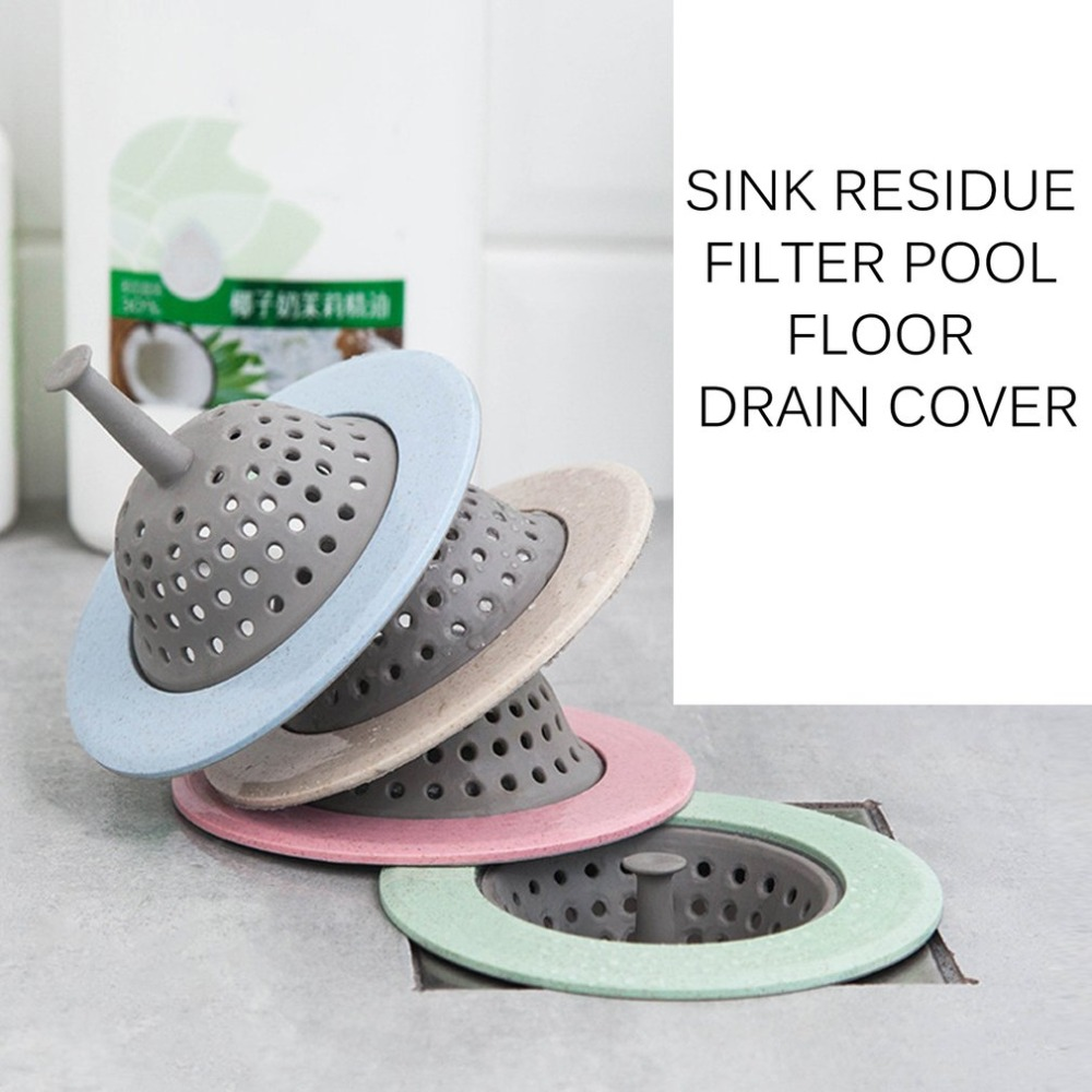 Sink Strainer Basket Mesh Filter Sink Drain Plug Cover Anti-blocking Strainer Residue Stopper Kitchen Bathroom Tools
