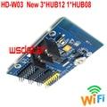 HUIDU HD-W03 HD W03 512*32 512*16 512*48 P4.75 P10 Одноцветный WI-FI светодиодный дисплей контрольной карты