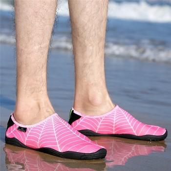 Plaża sporty wodne buty pływanie nurkowanie mężczyźni duże rozmiary trampki letnie Surfing obuwie dla dzieci kobiety boso nadmorskie buty do wody tanie i dobre opinie GYMTOP RUBBER Stretch Fabric Pair Dla dorosłych