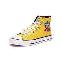 B. pato pequeno pato amarelo sapatos femininos novo estilo versátil casual sapatos de lona plana de altura superior sapatos de lona feminina|Sapateiras e organizadores de sapato| |  -