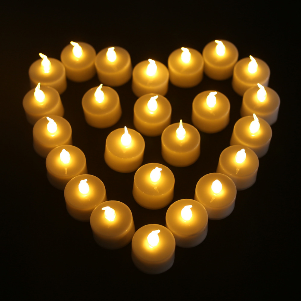 6//12//24pc Flameless LED Candle Flickering Tea Light Valentine Wedding Home Party
