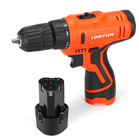 12V Rechargeable Home Cordless Electric Drill Li Ion Battery Driver Hand Kit Adjust 2 Speed Waterproof Power Tools