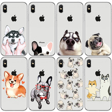Animal Cute Pug Dog Pattern Design Soft Silicon Phone Cases