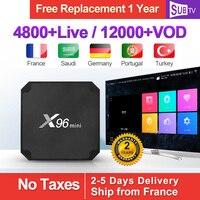 X96Mini Arabic IPTV France SUBTV IP TV Belgium Android 7.1 S905W 2+16GB 1 Year IPTV Subscription Netherlands Italian IPTV Code
