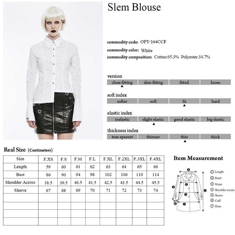 Черные модные дизайнерские женские повседневные рубашки в стиле панк с длинными рукавами, асимметричная Тонкая Повседневная Женская блузка в западном стиле