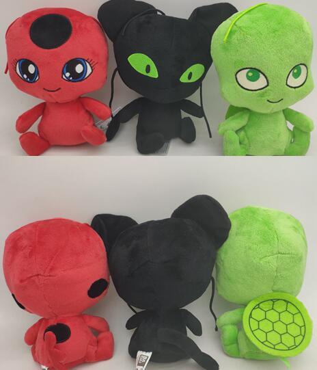 15cm Ladybug Lady Bug Stuffed Plush Peluches Dolls Toys Dot Printed Masks & Handbag Toys Kids Christmas Birthday Party Gifts