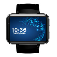 Smart watch DM98 Support SIM Android 2.2 inch Big Screen 320*240 MTK Dual Core 1.2G 900mAh with WIFI 3G GPS Smartwatch Phone