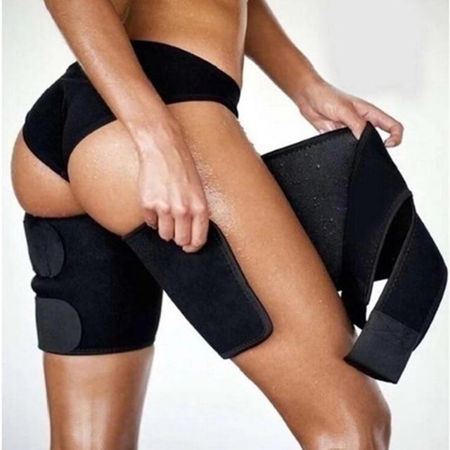 1PC Men Women Leg Shaper Sauna Sweat Thigh Adjustable Leggings Weight Loss Slimming Wraps Legs Thermo Neoprene Compress Belt 2