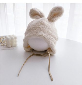 Bunnie-Fluffy Winter Hat – White