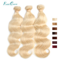 Ali FumiQueen 3/4 Pcs Remy Hair Weave Bundles 4#/BURG/99J/27#/33#/30#/Blonde 613 Brazilian Body Wave Pre-Colored Human Hair(China)