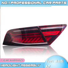 car accessoriesTail Light  for Audi A7 Tail Lights 2011 2017 LED Tail Light Rear Lamp moving turn signal light Taillight